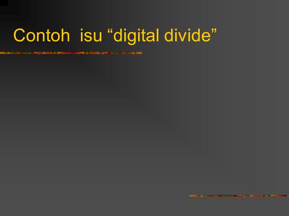 Contoh isu digital divide