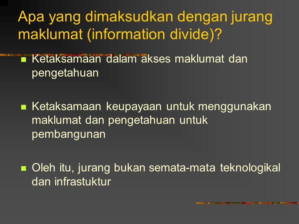 Apa yang dimaksudkan dengan jurang maklumat (information divide)