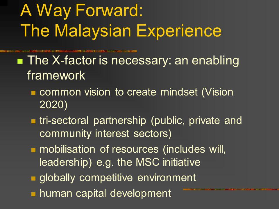A Way Forward: The Malaysian Experience