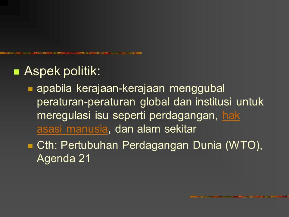 Aspek politik: