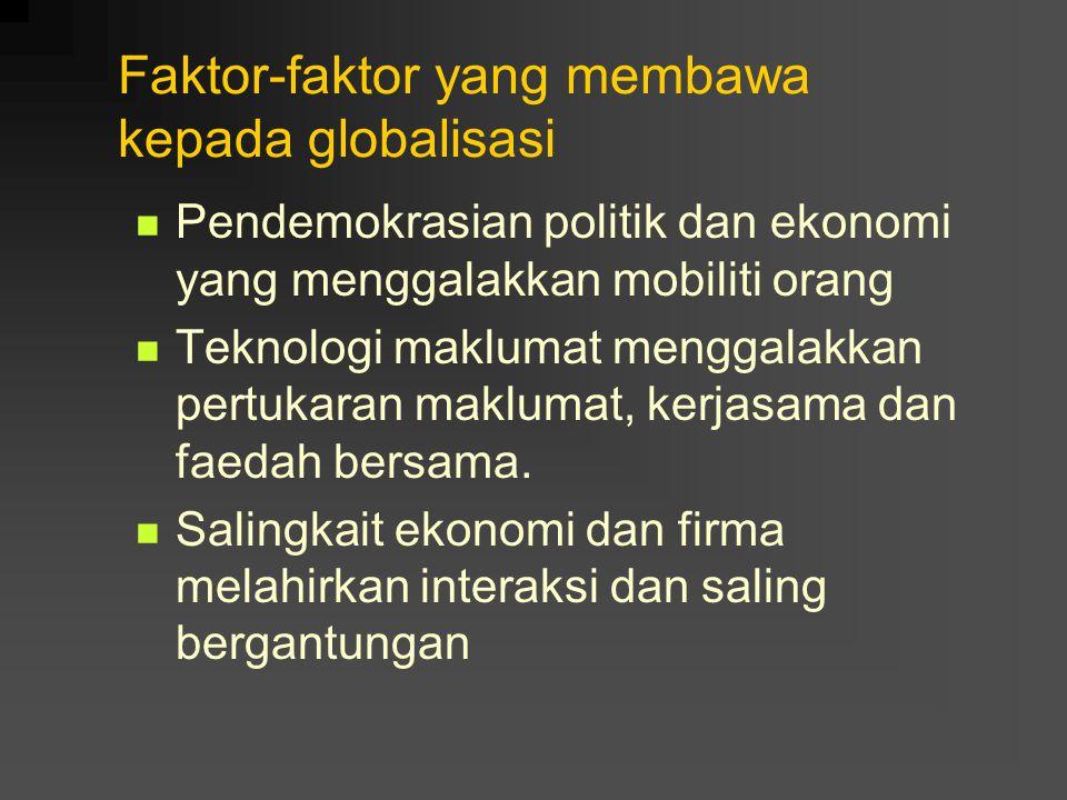 Faktor-faktor yang membawa kepada globalisasi