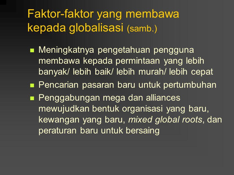 Faktor-faktor yang membawa kepada globalisasi (samb.)