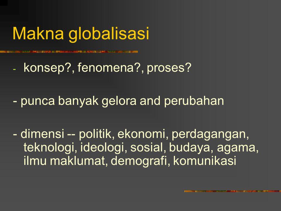 Makna globalisasi konsep , fenomena , proses
