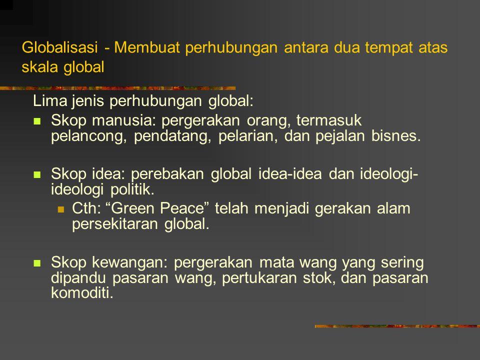 Globalisasi - Membuat perhubungan antara dua tempat atas skala global
