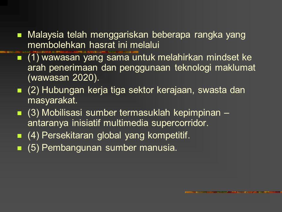 Malaysia telah menggariskan beberapa rangka yang membolehkan hasrat ini melalui