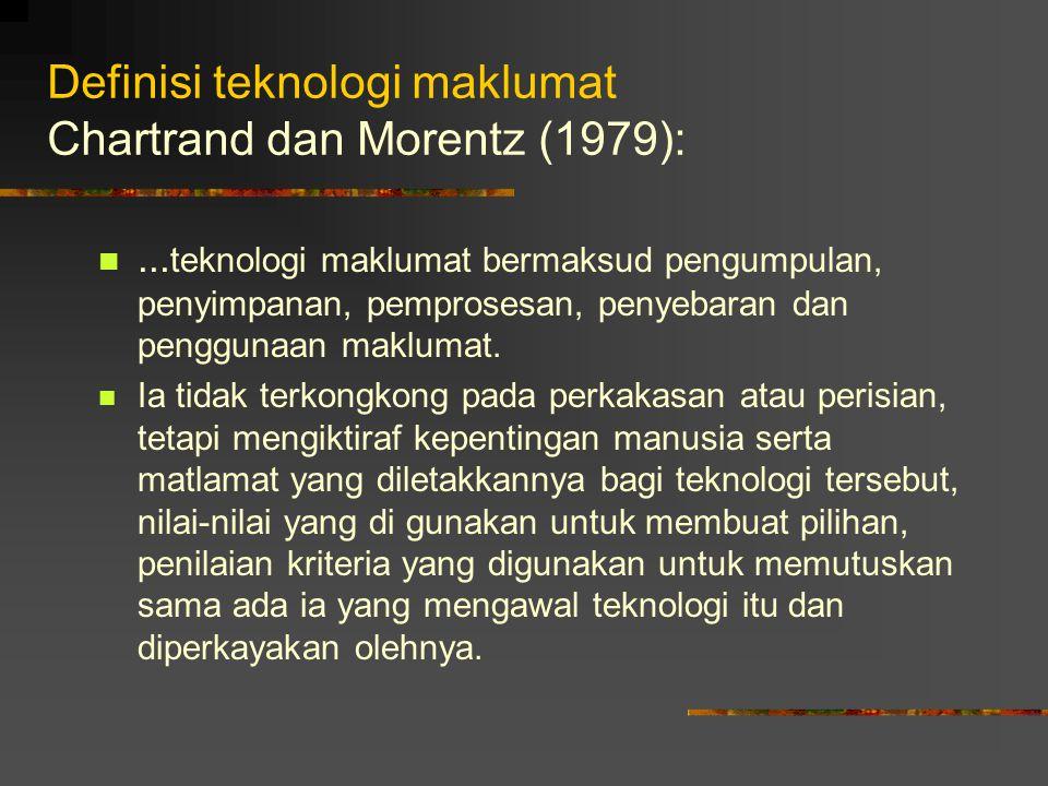 Definisi teknologi maklumat Chartrand dan Morentz (1979):