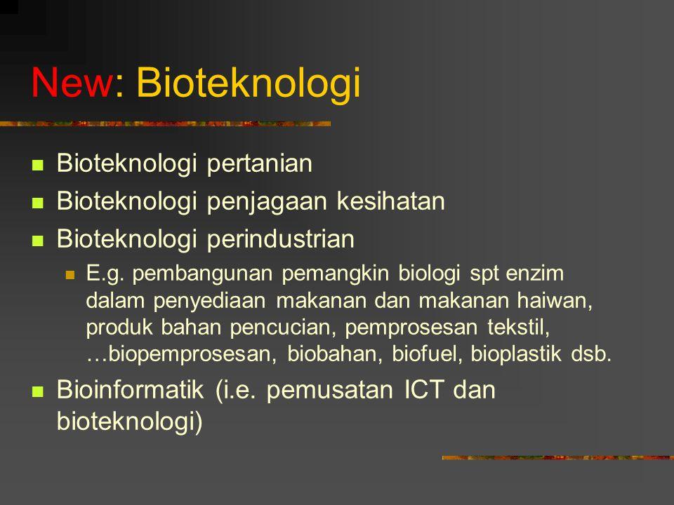 New: Bioteknologi Bioteknologi pertanian