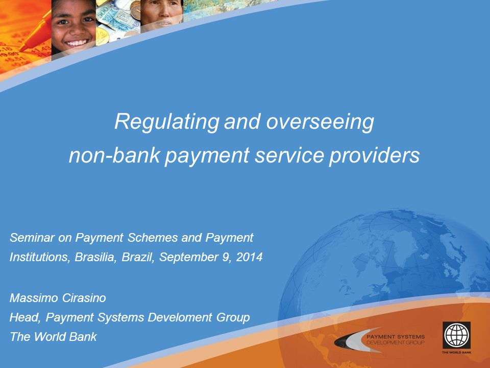 Regulating and overseeing non-bank payment service providers