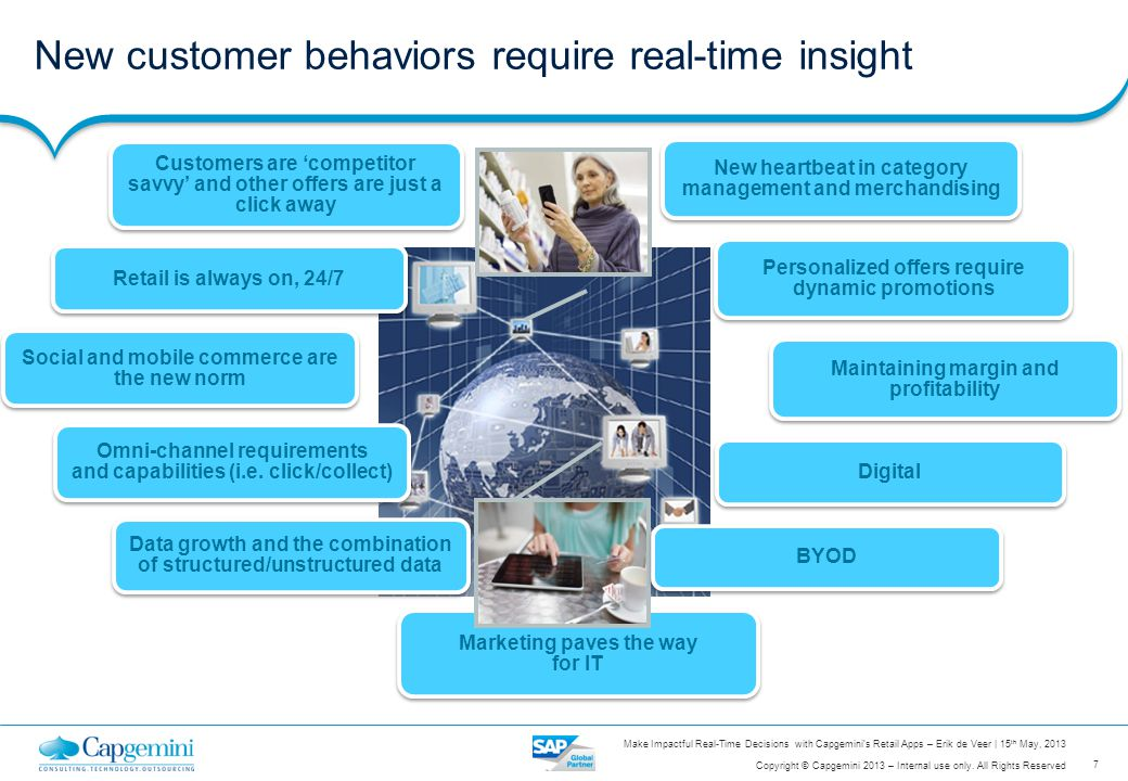 New customer behaviors require real-time insight
