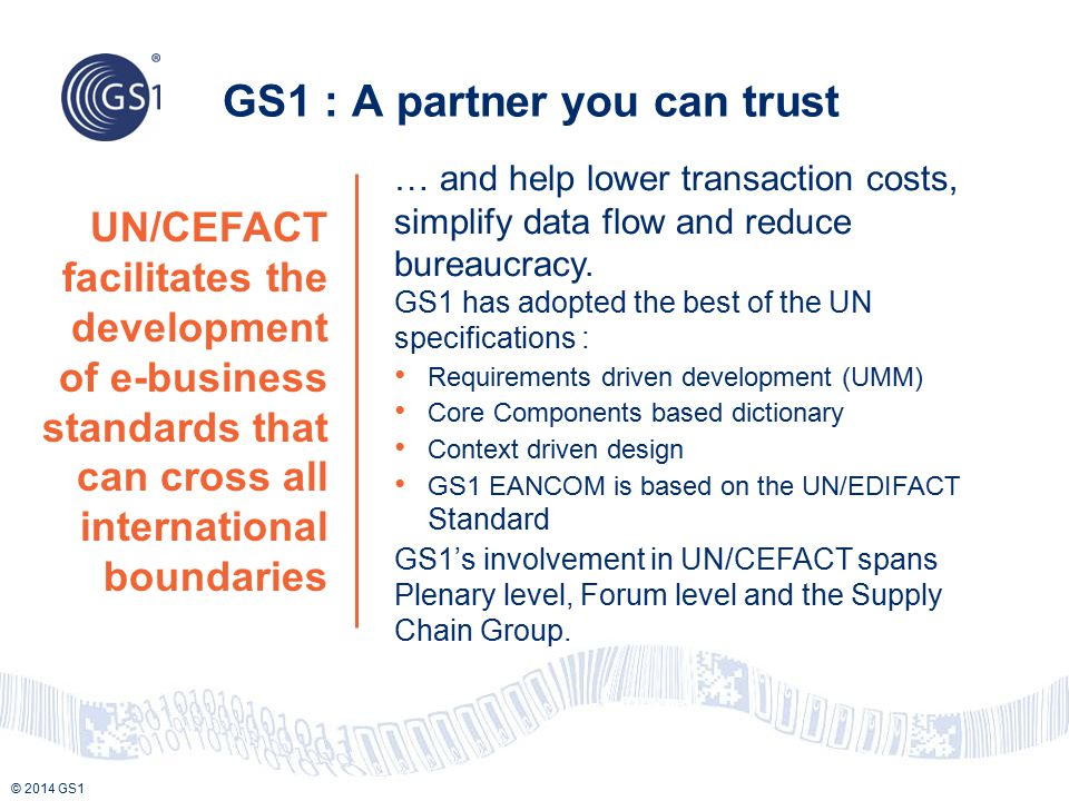 GS1 : A partner you can trust