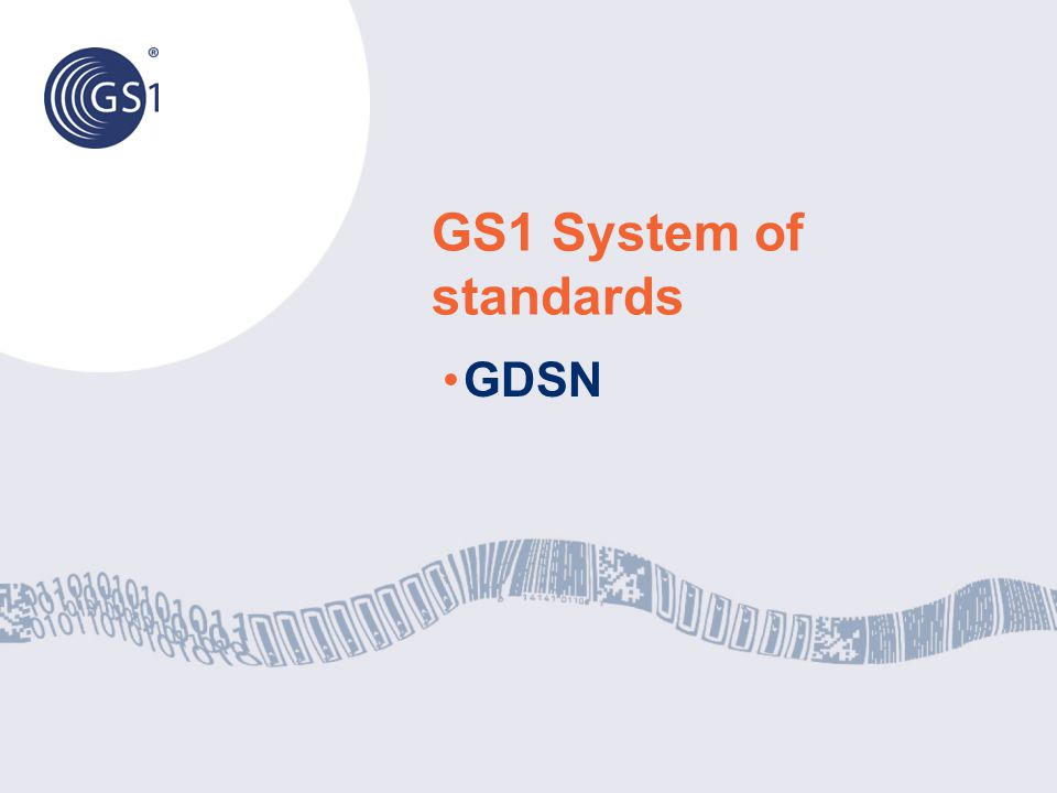 GS1 System of standards GDSN