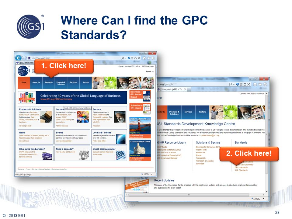 Where Can I find the GPC Standards