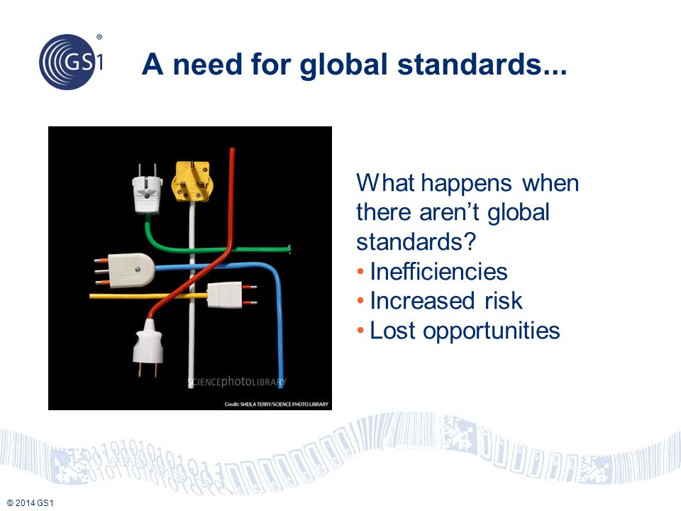 A need for global standards...