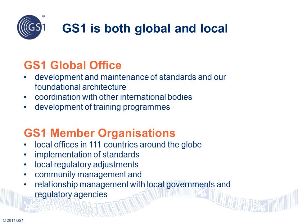 GS1 is both global and local