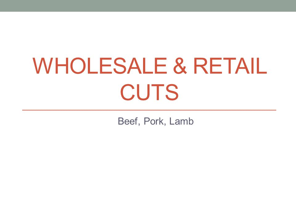 Wholesale & Retail cuts