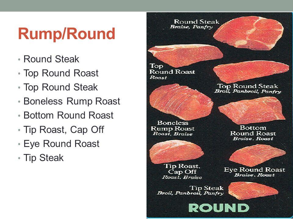 Rump/Round Round Steak Top Round Roast Top Round Steak