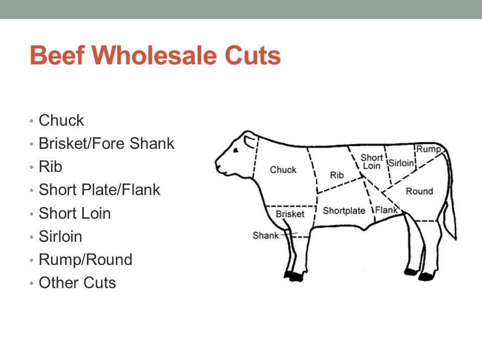 Beef Wholesale Cuts Chuck Brisket/Fore Shank Rib Short Plate/Flank