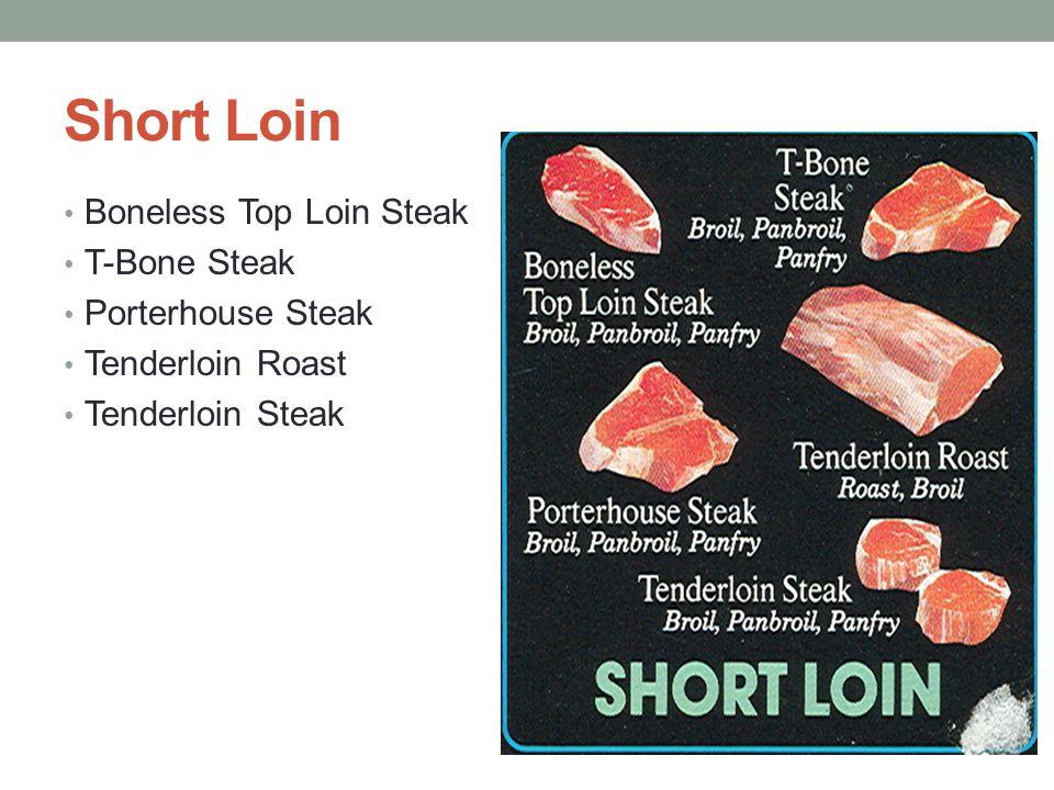 Short Loin Boneless Top Loin Steak T-Bone Steak Porterhouse Steak