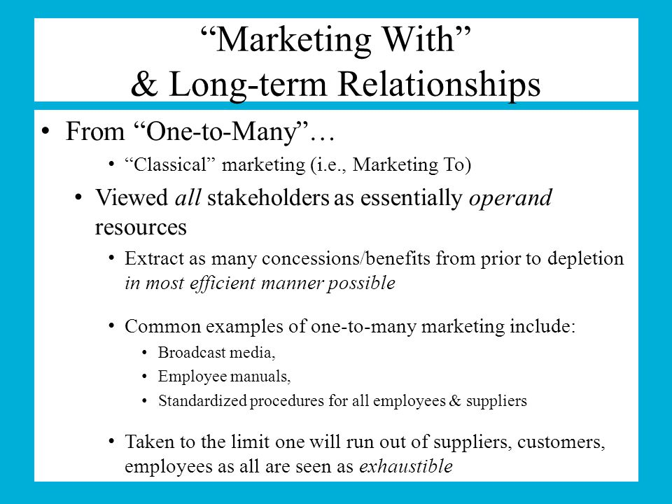 relationship marketing approach and strategiesin retailing Keywords: relationship marketing, customer loyalty, customer relationships   club marketing programmes form a significant part of retailers' relationship   customer – a fairly commonsense approach to understanding customers' needs, .