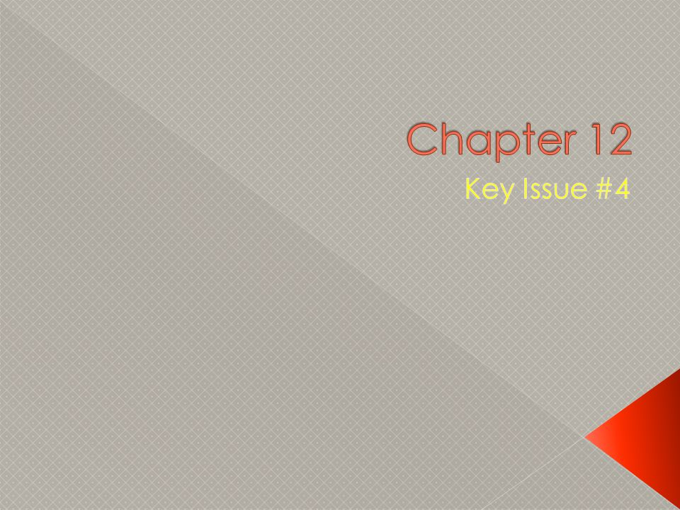 Chapter 12 Key Issue #4