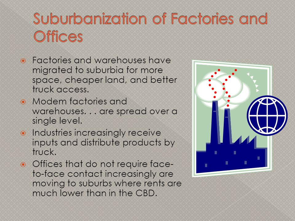 Suburbanization of Factories and Offices
