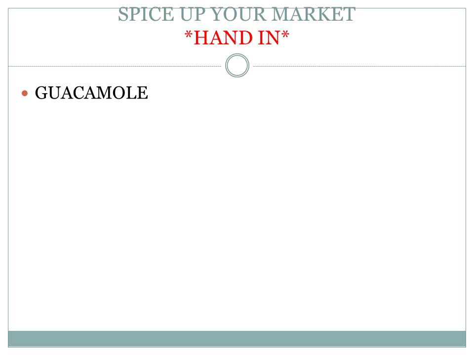 SPICE UP YOUR MARKET *HAND IN*