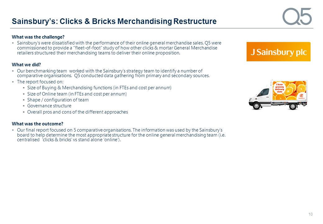 Sainsbury's: Clicks & Bricks Merchandising Restructure