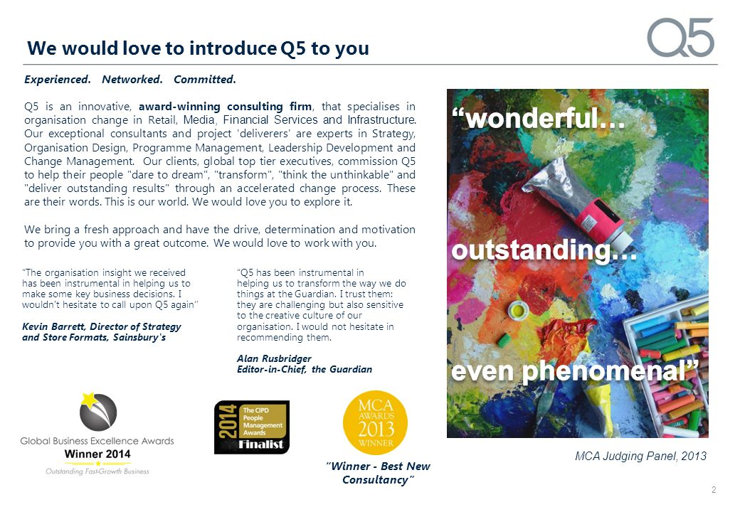 We would love to introduce Q5 to you