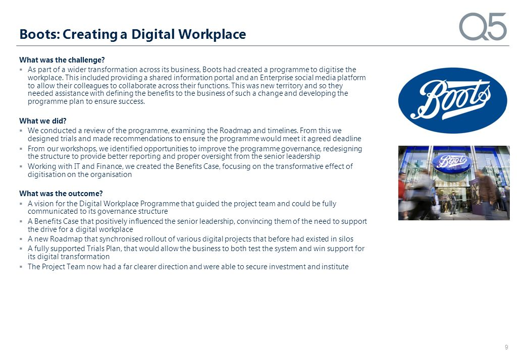 Boots: Creating a Digital Workplace