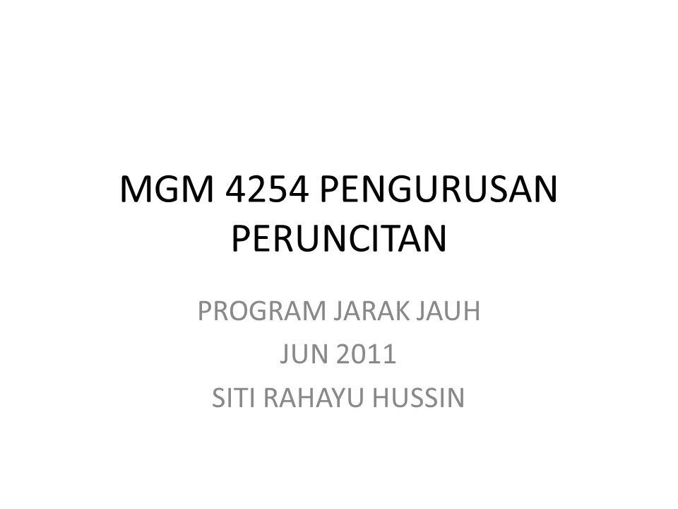 MGM 4254 PENGURUSAN PERUNCITAN