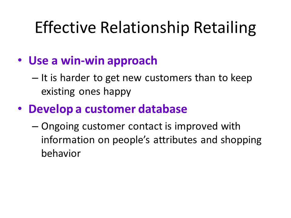 Effective Relationship Retailing
