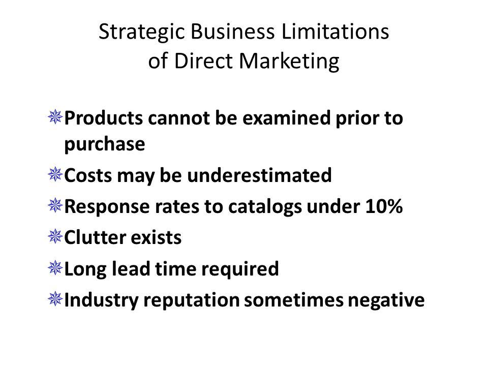 Strategic Business Limitations of Direct Marketing