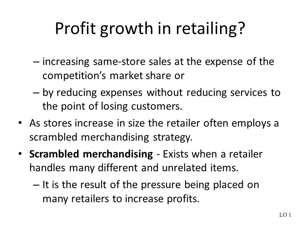 Profit growth in retailing