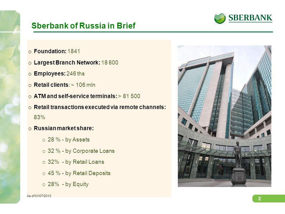 Sberbank of Russia in Brief