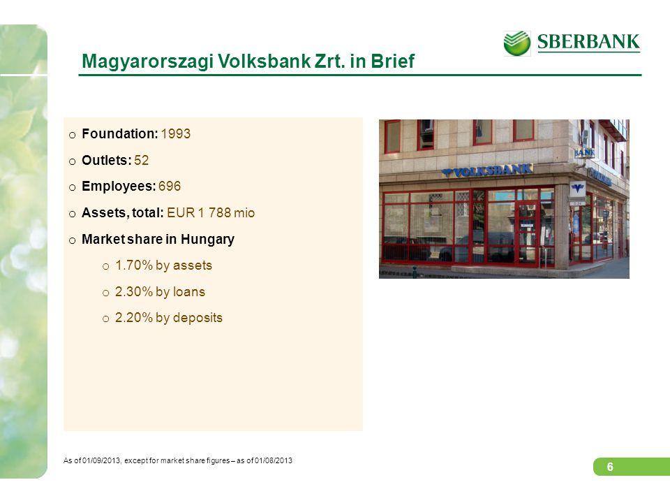 Magyarorszagi Volksbank Zrt. in Brief