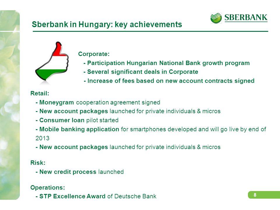 Sberbank in Hungary: key achievements