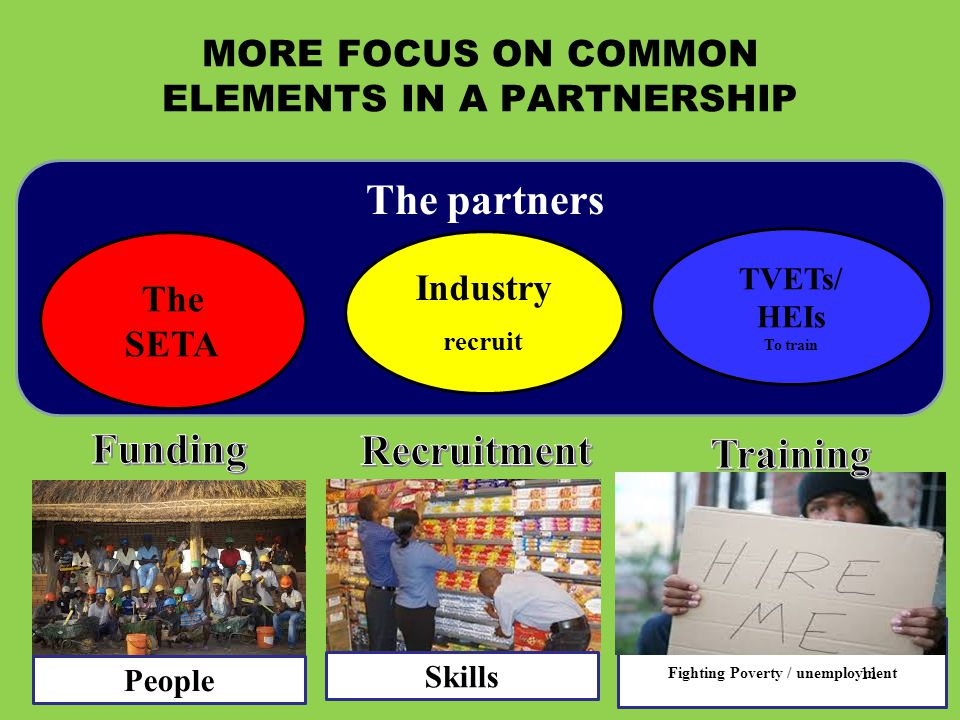 MORE FOCUS ON COMMON ELEMENTS IN A PARTNERSHIP