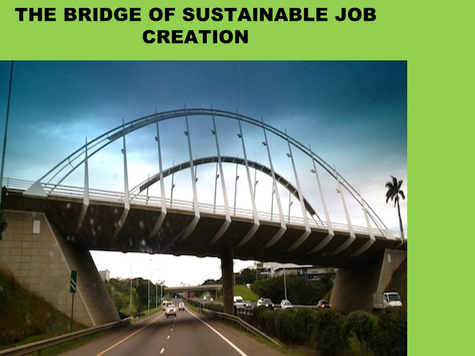 THE BRIDGE OF SUSTAINABLE JOB CREATION