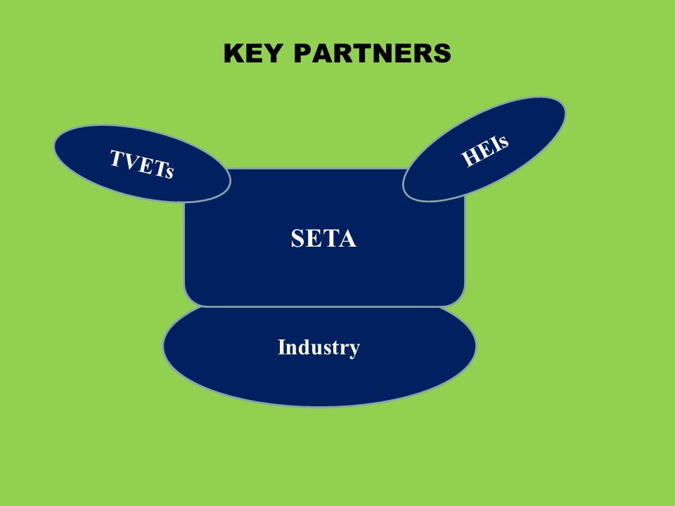 KEY PARTNERS HEIs TVETs SETA Industry