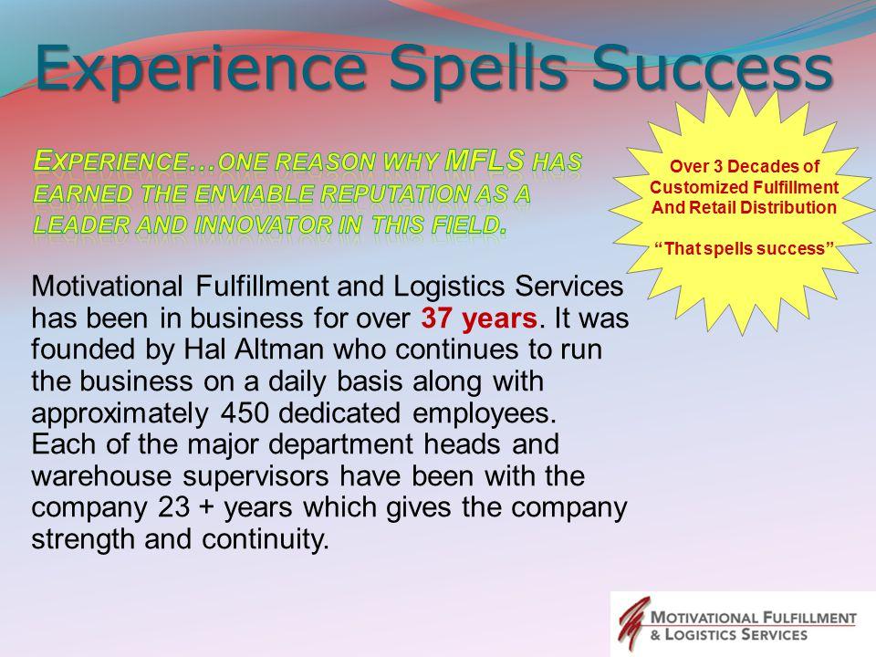 Experience Spells Success