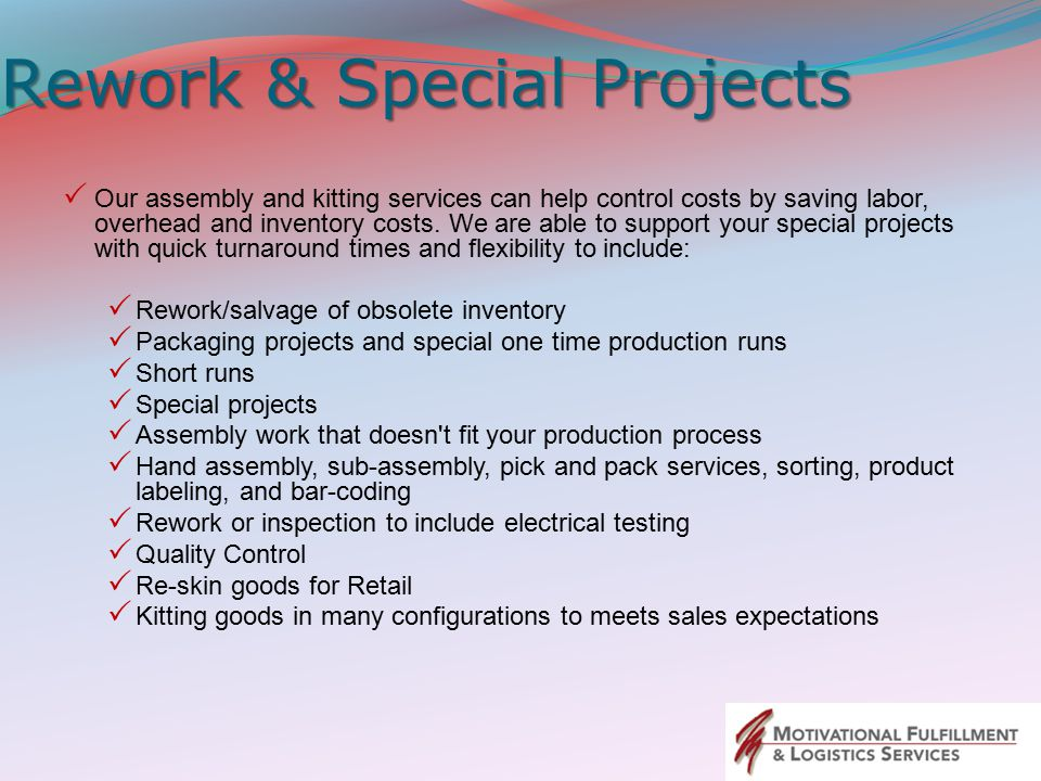 Rework & Special Projects