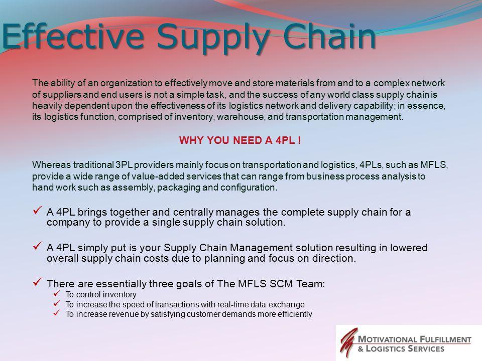 Effective Supply Chain