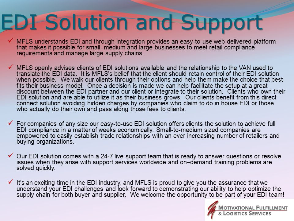 EDI Solution and Support