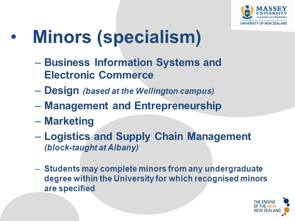 Minors (specialism) Minors