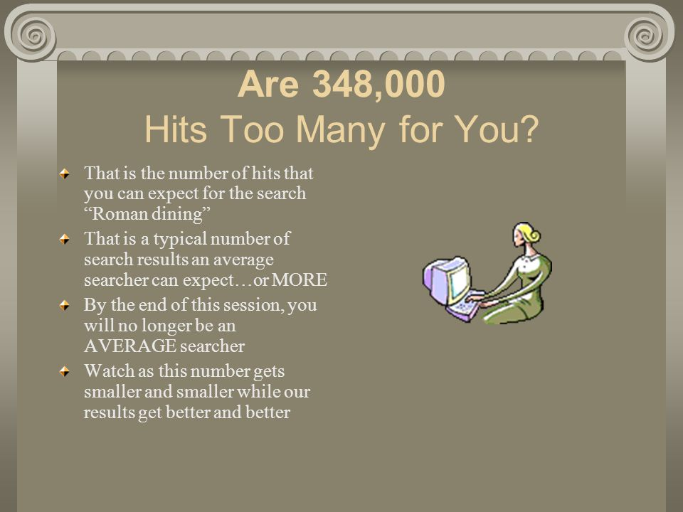 Are 348,000 Hits Too Many for You