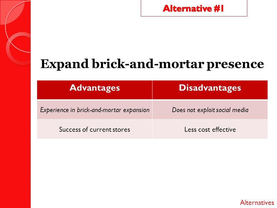 Expand brick-and-mortar presence