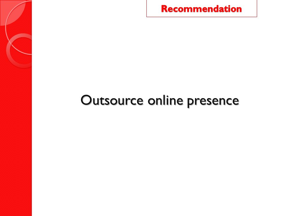 Outsource online presence