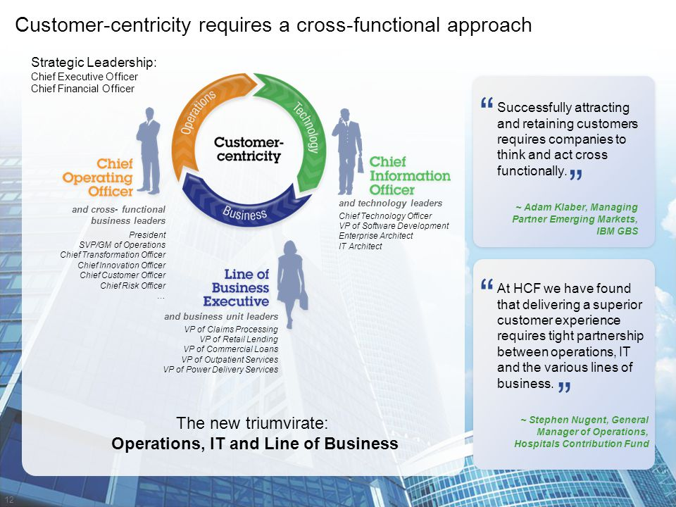 Operations, IT and Line of Business