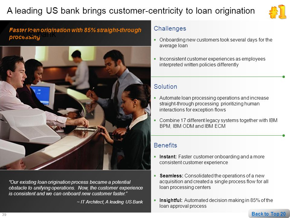 A leading US bank brings customer-centricity to loan origination