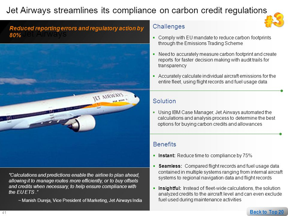 Jet Airways streamlines its compliance on carbon credit regulations